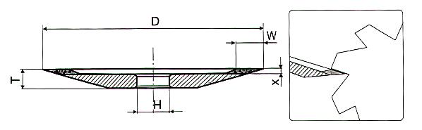 4B2 - Тарелка алмазная для заточки пил, разверток, фрез
