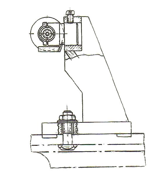 Схема установки державок ДО на внутришлифовальном станке