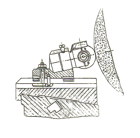 Схема установки державок ДО на круглошлифовальном станке