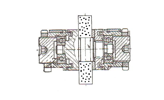 Схема установки диска в державке ДО 40